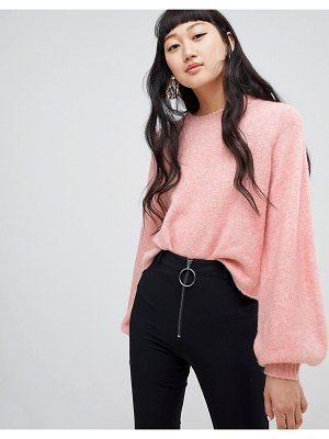 Weekday balloon sleeve knit in pink