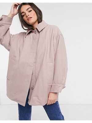 Weekday carli oversized jacket in beige