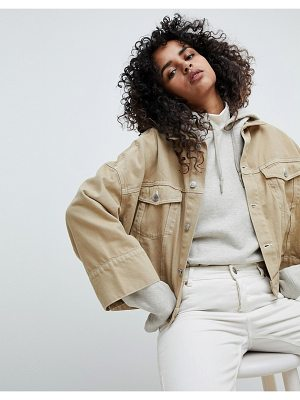 Weekday Contrast Stitch Crop Jacket