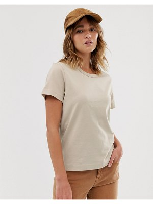 Weekday fitted tee in beige