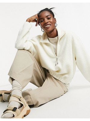 Weekday maja fleece sweatshirt in beige