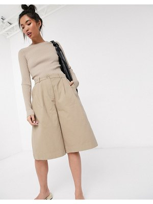Weekday nori chino shorts in beige