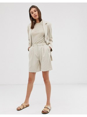 Weekday tailored shorts in light beige