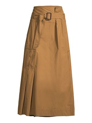 Weekend Max Mara belted high-waist midi skirt