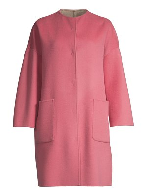 Weekend Max Mara drava bi-color wool coat