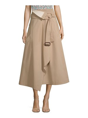 Weekend Max Mara flipper cotton wrap skirt