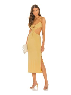WeWoreWhat ruched cutout maxi dress