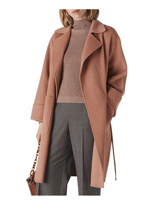 Whistles double face wool blend wrap coat
