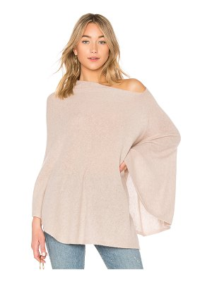 White + Warren Two Way Angled Poncho
