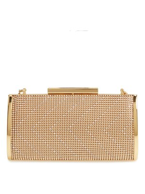 Whiting & Davis chevron crystal embellished clutch