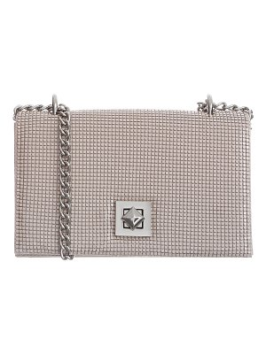 Whiting & Davis Flat Structured Mesh Clutch Bag