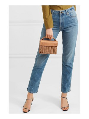 Wicker Wings kuai mini rattan and leather tote