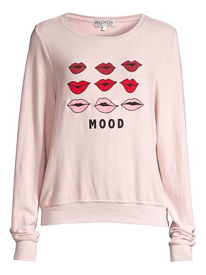 Wildfox baggy beach moody lips oversized sweatshirt