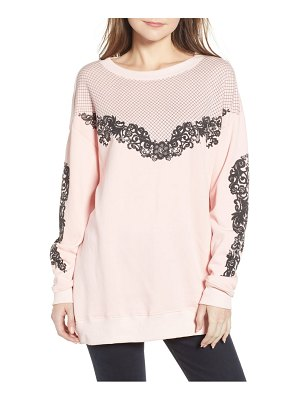 Wildfox chantilly lace roadtrip sweatshirt
