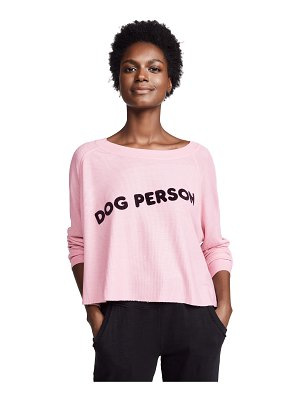 Wildfox dog person monte crop sweatshirt