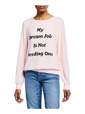 Wildfox Dream Job Crewneck Pullover Sweater