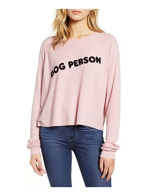 Wildfox monte dog person thermal top