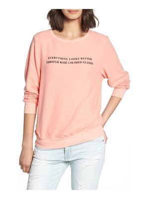 Wildfox rose glasses beach sweatshirt