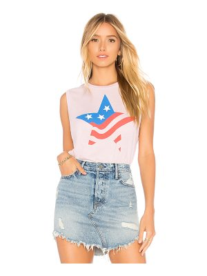 Wildfox Star Flag Vintage Muscle Tank