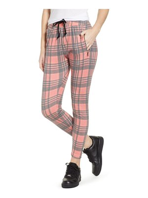 Wildfox sweetheart plaid jogger pants