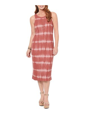 Wit & Wisdom sleeveless tie dye midi dress