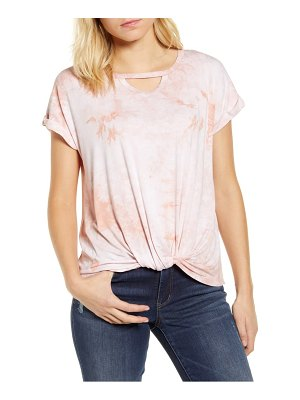 Wit & Wisdom tie dye twist hem top
