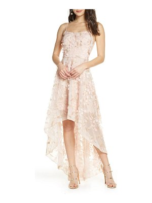 Xscape 3d floral high/low gown