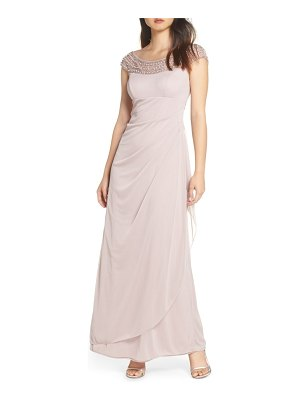 Xscape bead embellished gown