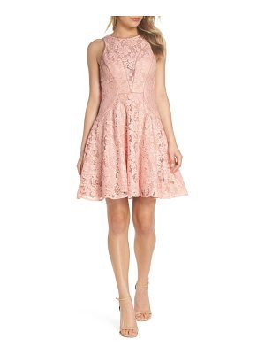 Xscape lace fit & flare dress