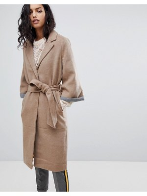 Y.a.s abbey wool blend belted duster coat