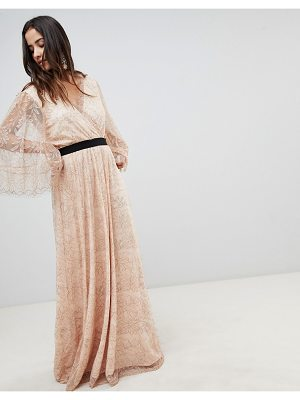 Y.a.s All Over Lace Wrap Maxi Dress