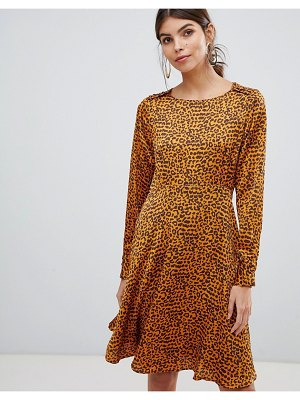 Y.a.s button detail animal swing mini dress
