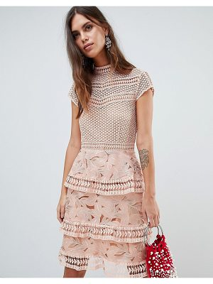 Y.a.s dress with tiered lace detailed mini skirt
