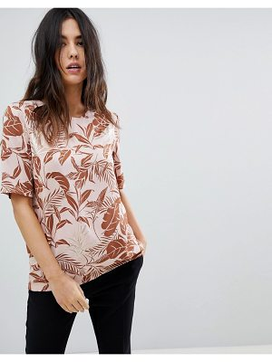 Y.a.s fall leaf print top