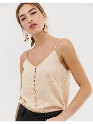 Y.a.s floral satin cami top