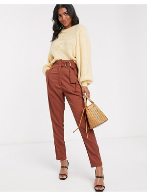 Y.a.s high waist wide leg pants with wide belt