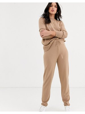 Y.a.s knitted sweatpants two-piece-beige