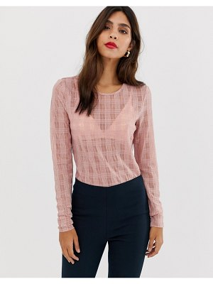 Y.a.s lorella crosshatch long sleeved top