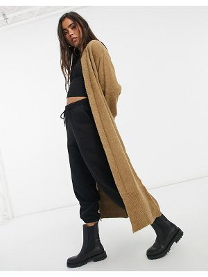 Y.a.s maxi knitted cardigan in beige-neutral