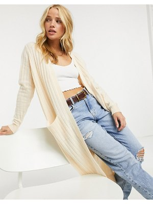 Y.a.s maxi textured cardigan in cream