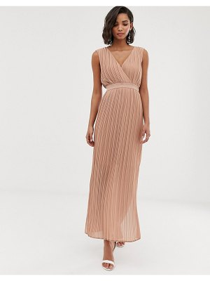 Y.a.s pleated wrap maxi dress-brown