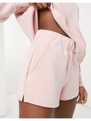 Y.a.s premium sweat shorts in pink part of a set