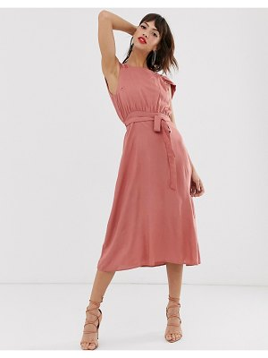 Y.a.s square neck midi dress with low drape back
