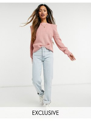 Y.a.s sweater with exaggerated shoulder in pink