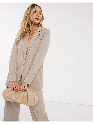 Y.a.s tailored blazer two-piece in beige