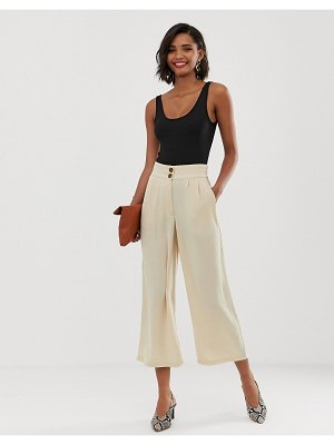 Y.a.s tailored crop pants-cream