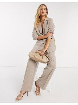 Y.a.s wide leg pants two-piece in beige
