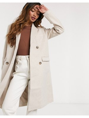 Y.a.s wool coat with double-breasted button closure in cream
