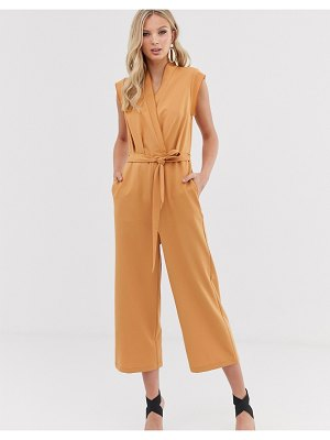 Y.a.s wrap sleevless cropped jumpsuit-cream