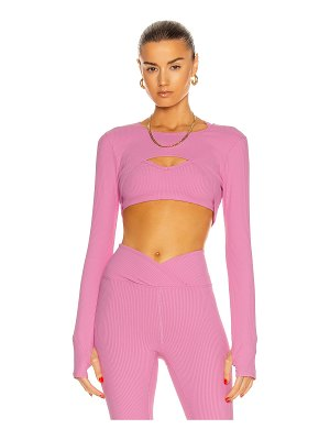 YEAR OF OURS ribbed active shrug top